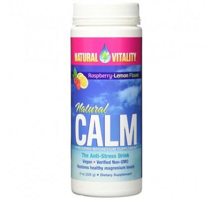 Natural Calm Anti-Stress Drink Raspberry Lemon 8 oz. (226 g)