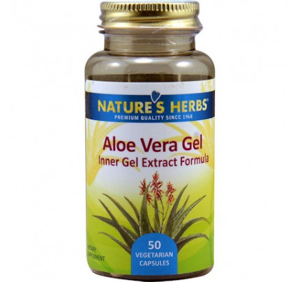 Aloe Vera Gel 200:1 Extract 25 mg 50 Vegetarian Capsules