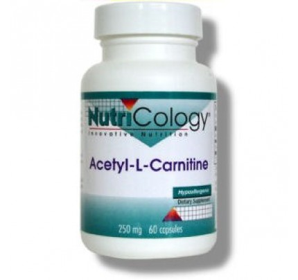 Acetyl L-Carnitine 250 mg 60 Vegetarian Capsules