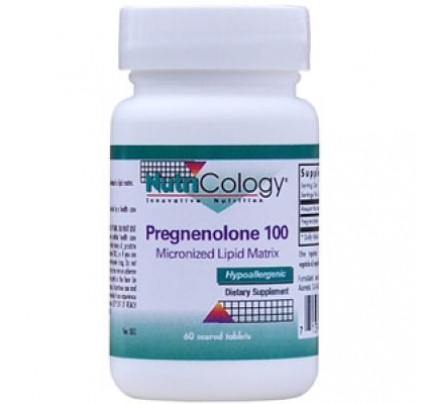 Pregnenolone 100 mg Micronized Lipid Matrix 60 Tablets