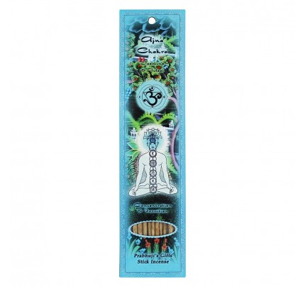 Stick Incense Ajna Third Eye Chakra Concentration & Intuition Jasmine & Tulasi 10 Sticks
