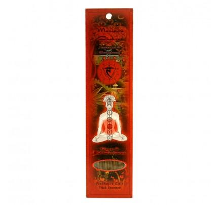 Stick Incense Manipura Solar Plexus Chakra Power & Self-Confidence Lavender & Sandalwood 10 Sticks
