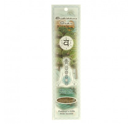 Stick Incense Svadhishthana Sacral Chakra Sensuality & Creativity Vanilla, Rose & Vetiver 10 Sticks