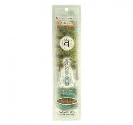 Stick Incense Svadhishthana Sacral Chakra Sensuality & Creativity Vanilla, Rose & Vetiver 10 Sticks