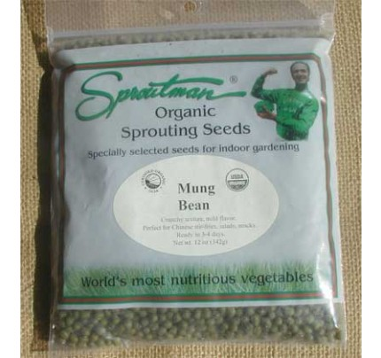 Green Pea Shoots Snow Organic Sprouting Seeds 16oz.