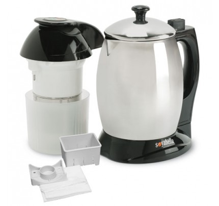 Soyabella Soymilk Maker with Stainless Steel Lid and Tofu Maker Kit