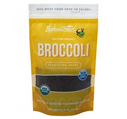 Broccoli Organic Sprouting Seeds 4 oz.