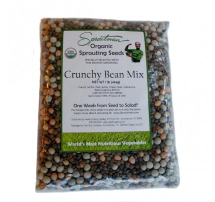 Mung Bean Organic Sprouting Seeds 16oz.