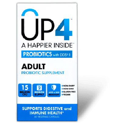 UP4 Adult Probiotic 60 Vegetarian Capsules