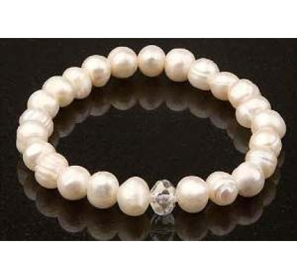 Keilani White Freshwater Pearls Bracelet