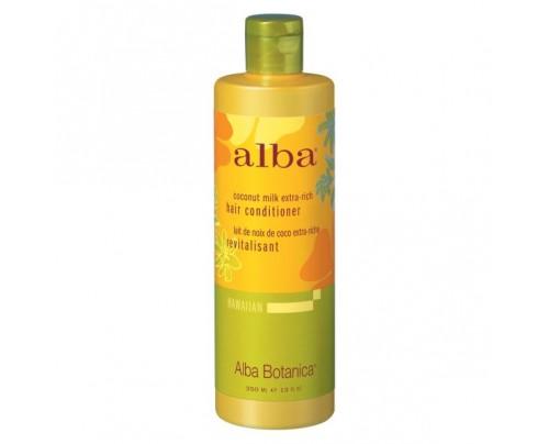 Alba Botanica Hawaiian Hair Conditioner Coconut Milk Extra Rich 12oz.