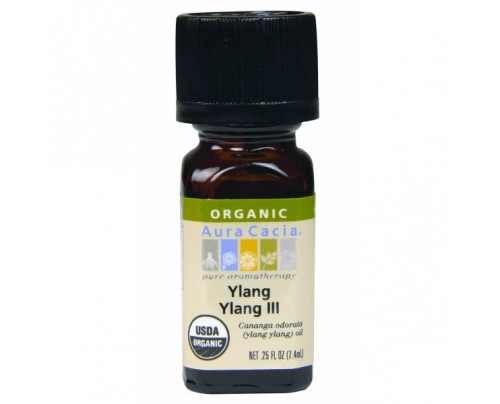Aura Cacia Organic Ylang Ylang Essential Oil 0.25oz.