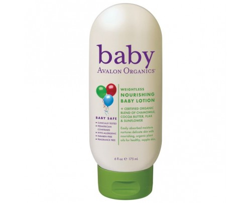 Avalon Organics Baby Lotion Weightless Nourishing 6oz.