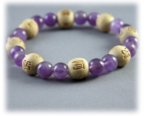 Zorbitz Lucky Karma Beads Karmalogy Amethyst - Good Health / Inner Strength Bracelet