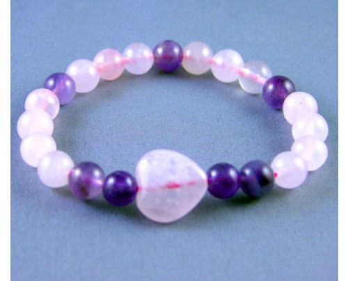 Zorbitz Live, Love, Hope Good Health - Amethyst and Rose Quartz