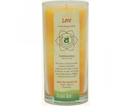 Aloha Bay Candle Chakra Energy Jar Love (Svadhishthana) Orange 11oz.