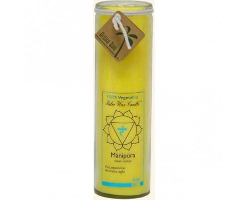 Aloha Bay Candle Chakra Jar Unscented Protection (Manipura) Yellow 16oz.