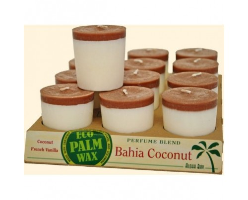 Aloha Bay Candle Votives Bahia Coconut White-Brown 12-pack