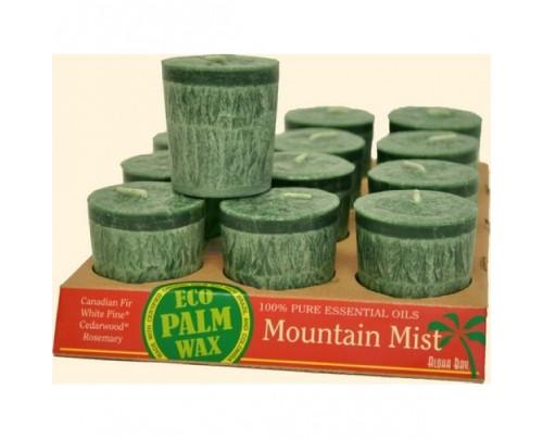 Aloha Bay Candle Votives Eco Palm Wax Mountain Mist Green 12-pack