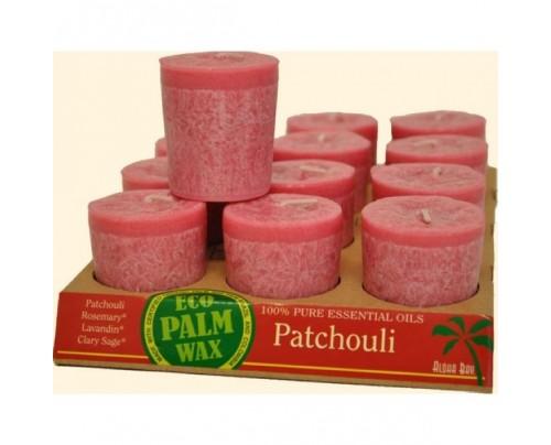 Aloha Bay Candle Votives Eco Palm Wax Patchouli Rose 12-pack