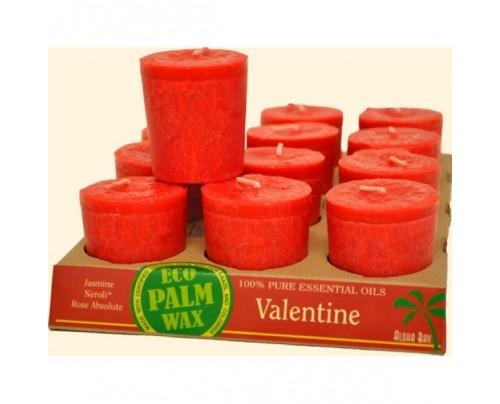 Aloha Bay Candle Votives Eco Palm Wax Valentine Scarlet 12-pack