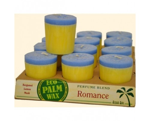 Aloha Bay Candle Votives Romance Yellow-Light Blue 12-pack