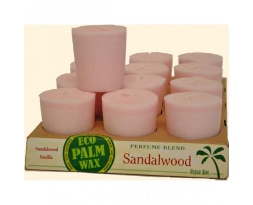 Aloha Bay Candle Votives Sandalwood Soft Pink 12-pack