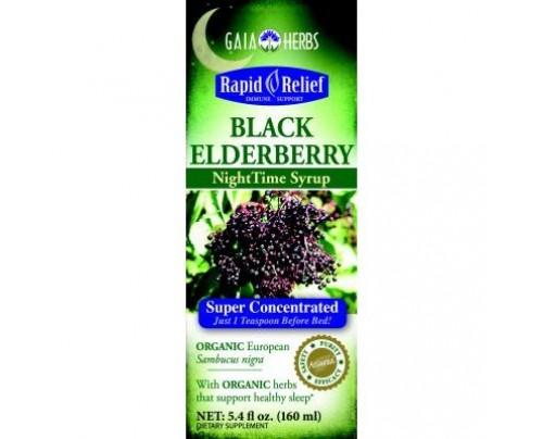 Gaia Herbs Black Elderberry Nighttime Syrup