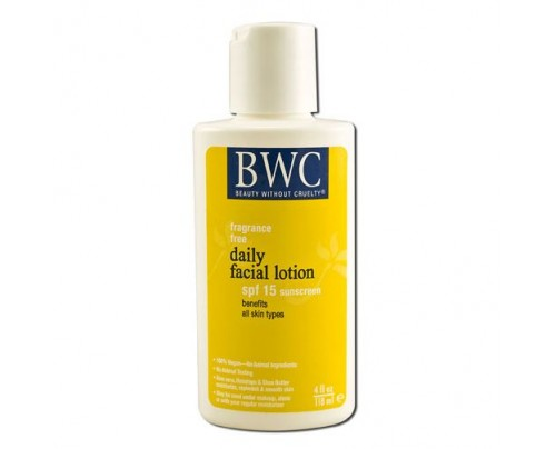 Beauty Without Cruelty Daily Facial Lotion SPF 18 4oz.