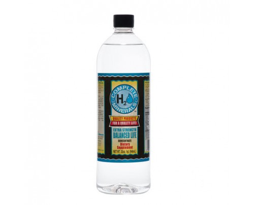 Complete H2O Minerals Balanced Life Ionic Mineral Water Extra Strength 4x Concentrate 32 fl. oz.