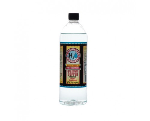 Complete H2O Minerals Copper Ionic Mineral Water Extra Strength 4x Concentrate 300 ppm 32 fl. oz.
