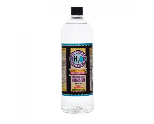 Complete H2O Minerals Potassium Ionic Mineral Water Extra Strength 4x Concentrate 4,000 ppm 32 fl. oz.