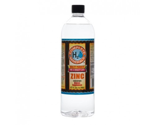 Complete H2O Minerals Zinc Ionic Mineral Water 150 ppm 32 fl. oz.