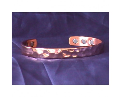 Energy Innovations Positive Energy Copper 3 Magnet Bracelet Hand Hammered Texture