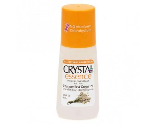 Crystal Mineral Deodorant Roll On Chamomile & Green Tea 2.25oz.