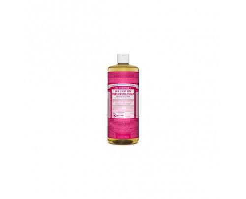 Dr. Bronner's Organic 18-in-1 Hemp Pure Castile Liquid Soap Rose 32 fl. oz.