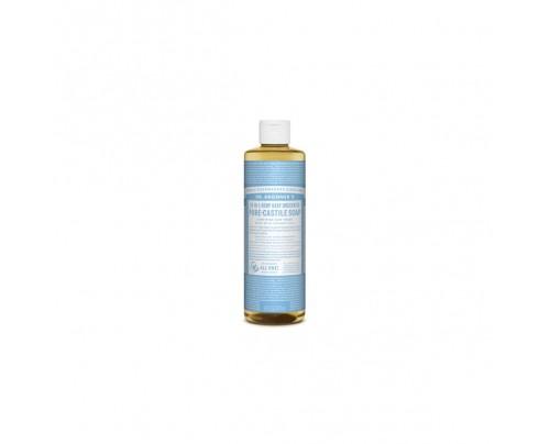 Dr. Bronner's Organic 18-in-1 Hemp Pure Castile Liquid Soap Unscented Baby Mild 16 fl. oz.