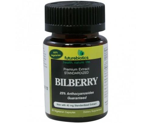 Futurebiotics Bilberry 125mg Complex 25mg Standardized Extract 60 Capsules