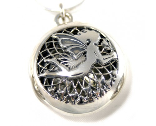 Earth Solutions Aromatherapy Jewelry - Scent Chamber Fairy, sterling silver