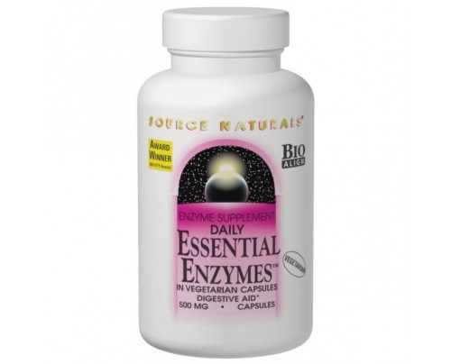Source Naturals Essential Enzymes 500 mg Capsules
