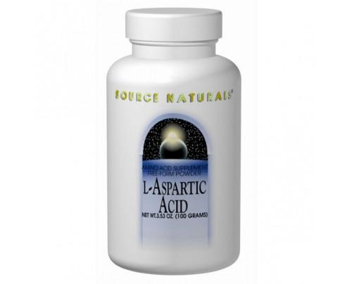 Source Naturals L-Aspartic Acid 1.9g (3.53oz.) 100 grams Powder