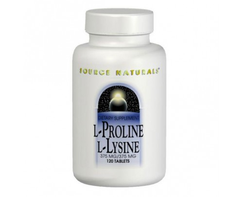 Source Naturals L-Proline & L-Lysine 275 mg Tablets
