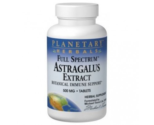 Planetary Herbals Astragalus Extract, Full Spectrum 500mg Tablets