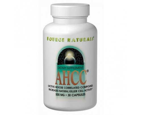 Source Naturals AHCC - Active Hexose Correlated Compound 500 mg 30 Vegetarian Capsules