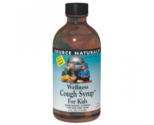 Source Naturals Wellness Cough Syrup for Kids Cherry