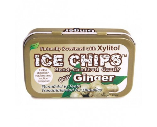 Ice Chips Candy Ginger Xylitol Candy Therapeutic 1.76oz.