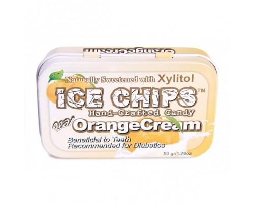 Ice Chips Candy Orange Cream Xylitol Candy 1.76oz.