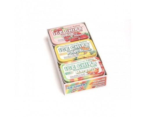Ice Chips Candy Party Pack - Two Each - Margarita, Strawberry, Pina Colada