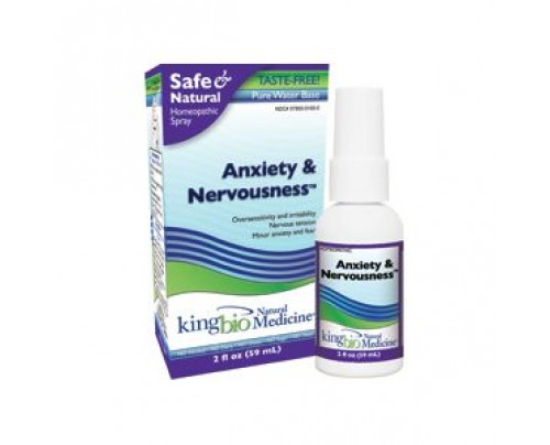 King Bio Homeopathic Anxiety & Nervousness 2oz.