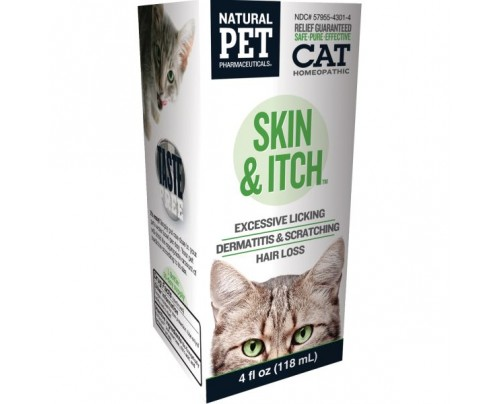 King Bio Natural Pet Cat: Skin & Itch 4oz.